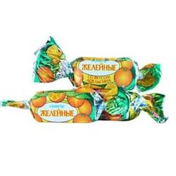 Конфеты желейные в шоколаде с фруктовыми вкусами