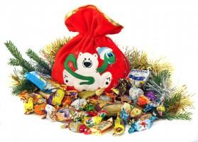 Мешочек сладостей подарок с конфетами на 2021