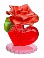 Сердечко с розой премиум