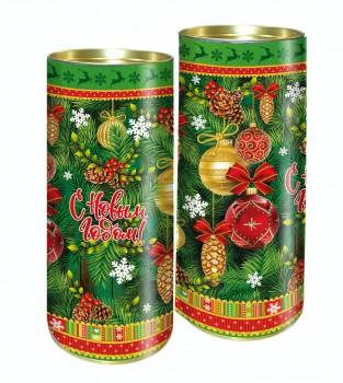 Подарок на новый год с конфетами Шары