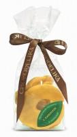 Яблочные кусочки в шоколаде с лимоном