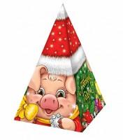 Сладкий подарок на Новый год в картонной упаковке Год Свинки