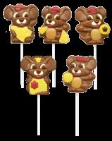 Сладкий подарок Шоколад фигурный с печеньем на палочке в асс.
