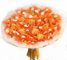 Букет из игрушек Оранжевое Небо