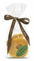 Яблочные кусочки в шоколаде с апельсином
