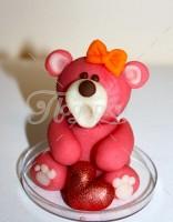 Мишка красный