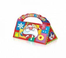 Сладкий новогодний подарок в картонной упаковке Сумочка Новый Год
