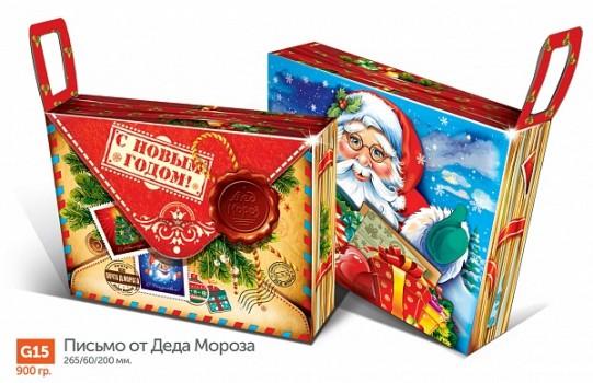 Сладкий новогодний подарок в красивой упаковке Письмо от Деда Мороза