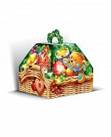 Сладкий новогодний подарок в картонной упаковке Зимние дары