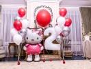 "Композиция из шариков ""Котенок Hello Kitty"""