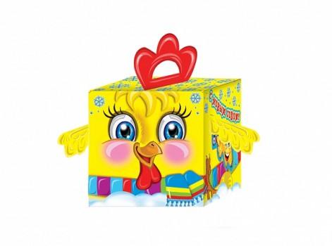 Новогодний подарок со сладостями в красивой упаковке Курчонок 250гр
