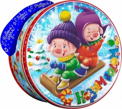 Новогодний подарок со сладостями Саночки 500гр