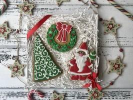 Набор пряников «Санта и его друзья»