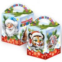 Сладкий подарок на Новый год в красивой упаковке Киндер сюрприз