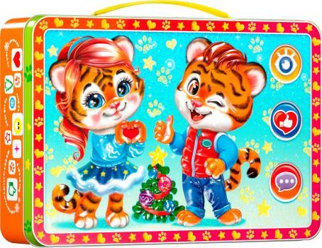 Сладкий подарок с тигрятами Чемоданчик Лайк