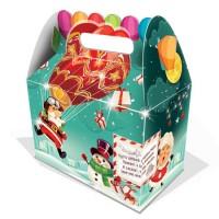 Сладкий новогодний подарок в картонной упаковке Дед Мороз на шаре