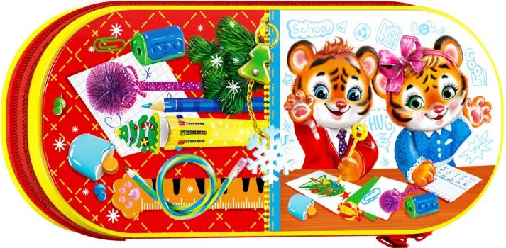 Новогодний подарок со сладостями для школьника Пенал Отличники