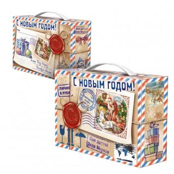 Новогодний подарок со сладостями Посылка