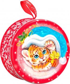 Новогодний подарок со сладостями Привет