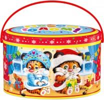 Новогодний подарок со сладостями Ваня и Маня