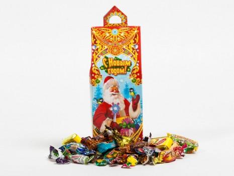 Сладкий новогодний подарок Мороз и Снегурочка