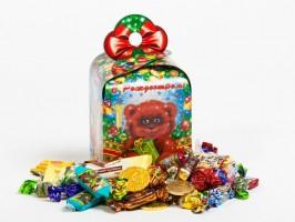 Сладкий подарок на Новый год в красивой упаковке Ярмарка чудес
