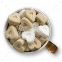 Сахарные сердечки тростниковые