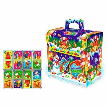 Новогодний подарок со сладостями Новогоднее домино