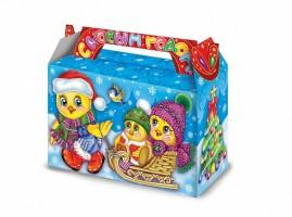 Новогодний подарок со сладостями в красивой упаковке Цыпочки 350гр