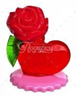 Сердечко с розой