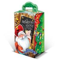 Сладкий новогодний подарок в картонной упаковке Холодильник