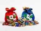 Мешочек сладостей подарок с конфетами на 2022 год