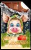 Сладкий новогодний подарок в красивой картонной упаковке Сластёнка 500гр