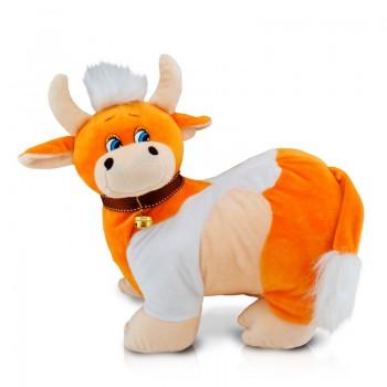 Новогодний подарок мягкая игрушка коровка Буренка 500 гр