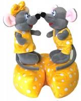 Новогодний подарок мягкая игрушка  мышонок Чеддер