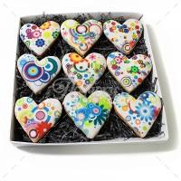 Сердца цветные