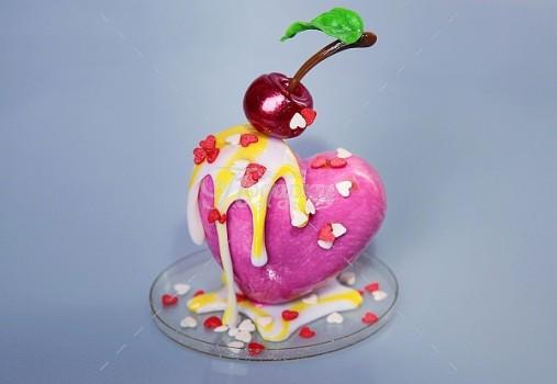 Десерт сердечко