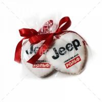 Отдельно печенье с логотипом