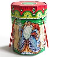 Подарок со сладостями на новый год Парад Дедов Морозов