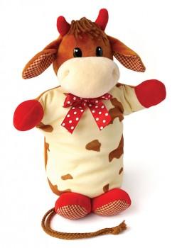 Подарок с конфетами игрушка на руку Капучинка