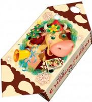 Сладкий новогодний подарок конфетка Коровка