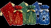 Новогодний подарок с конфетами Мешочек подарков
