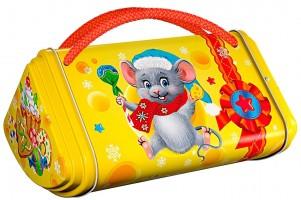 Новогодний подарок со сладостями Мышонок Пик