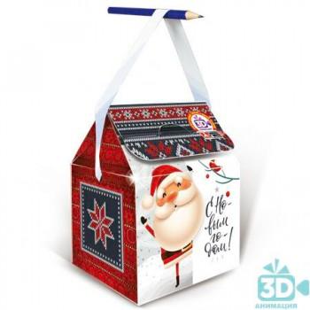 Новогодний подарок со сладостями Северный узор