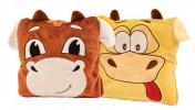 Подарок с конфетами Плед-подушка