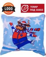 Новогодний подарок подушка с логотипом