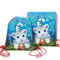 Сладкий новогодний подарок Мешочек рюкзак под сменку Сноу