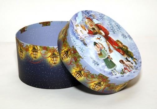 Сладкий подарок на Новый год Шляпная коробка Новогодние Забавы