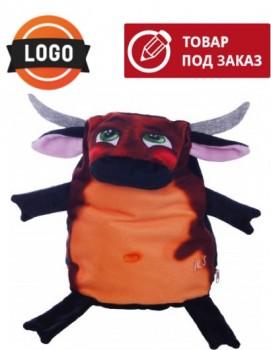 Новогодний подарок символ года Бык с логотипом