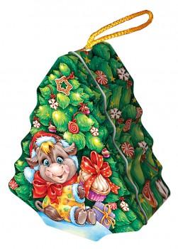 Новогодний подарок со сладостями Елка
